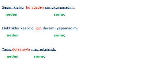 3.sınıf türkçe sebep neden sonuç konu anlatımı