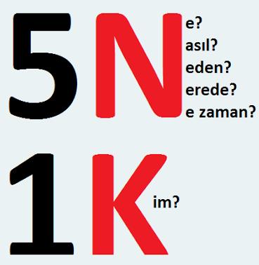 3.sınıf türkçe 5n 1k
