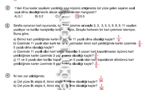 8.Sınıf Matematik Kitabı Cevapları Meb Yayınları Sayfa 14 2012-2013-2014