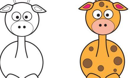 Zürafa Çizme Çalışması – Zürafa Nasıl Çizilir ?