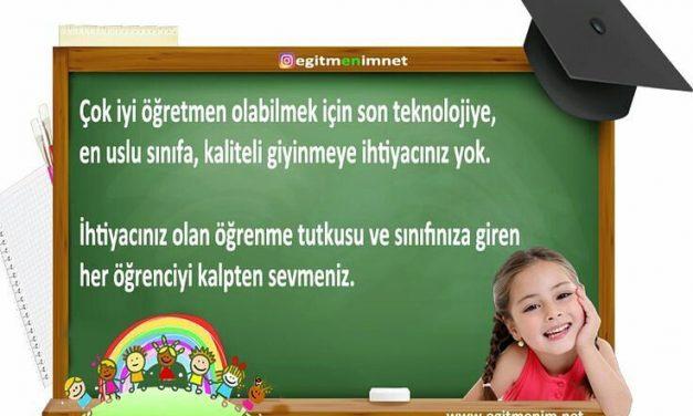 Çok iyi bir öğretmen olabilmek için…