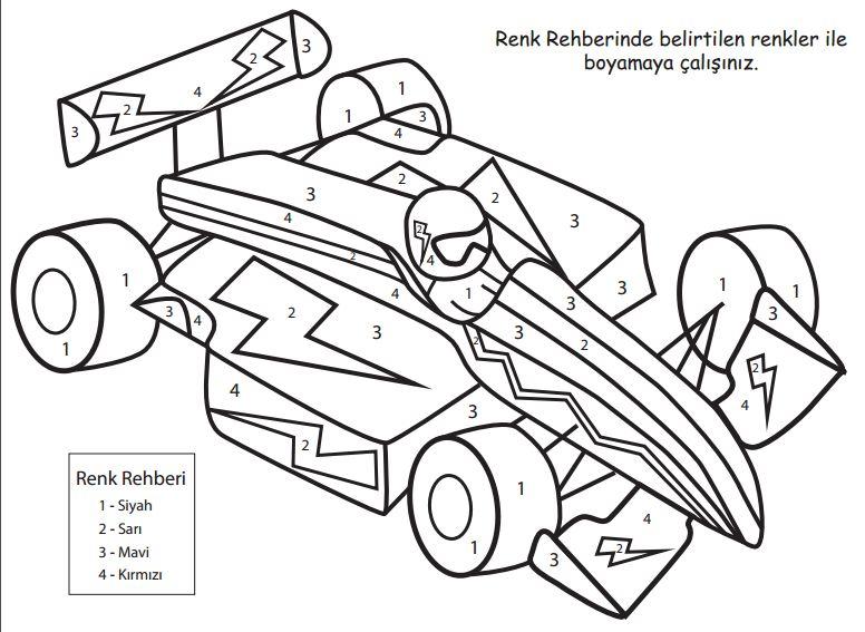 50 En Iyi Yarış Arabaları Boyama Yazdırılabilir Boyama Sayfaları