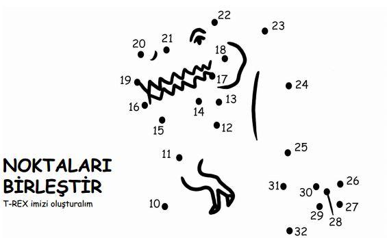 T-Rex Noktaları Birleştirme Etkinliği